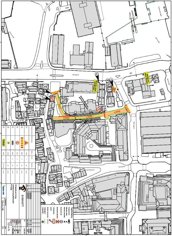 Kart over anleggsområdet i Baneveien